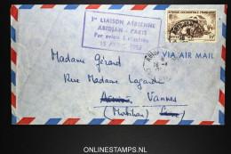 ABIDJAN - PARIS 15-4-1953 1re LIAISON - Côte-d'Ivoire (1892-1944)