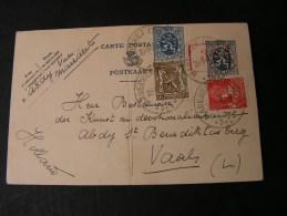 == Belgien Maredret Karte 1936 Mit Bug Und Überdruck ? - Belgien