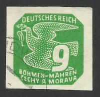 Bohemia & Moravia, 9 H. 1943, Sc # P14, Used. - Boemia E Moravia