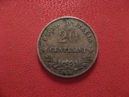 Italie - 20 Centesimi 1863 M BN Emanuele II 1174 - 1861-1946 : Kingdom