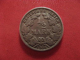 Allemagne - 1/2 Mark 1906 E 0958 - [ 2] 1871-1918 : German Empire
