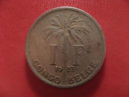 Congo Belge - 1 Franc 1923 Albert 0956 - Congo (Belgian) & Ruanda-Urundi
