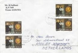 Albania 2002 Tirana Nobel Prize Cover - Albanië