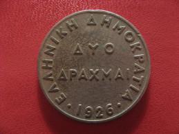 Grèce - 2 Drachmes 1926 1494 - Grèce