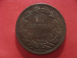 Luxembourg - 10 Centimes 1860 A - Légèrement Bombée 1489 - Luxembourg
