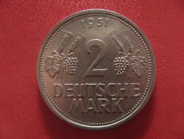 Allemagne - 2 Deutsche Mark 1951 J 0989 - [ 7] 1949-… : RFA - Rép. Féd. D'Allemagne