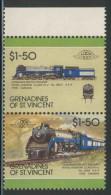 Grenadines Of St. Vincent 1987 Mi 555 /6 YT 519 /0 ** Locomotive Class HI-d No. 2850 4-6-4 (1938), Canada / Lokomotive - Treinen