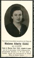 Alberte Isaac Moyen Izel Chiny Avioth 1916 1944 - Chiny