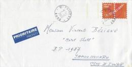France 2003 Puivert PAP Cover To Cote D'Ivoire - PAP:  Varia (1995-...)