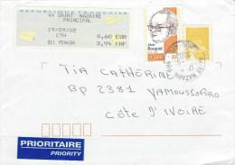 France 2002 St Nazaire EMA Alain Bosquet Poet Writer Cover - Brieven En Documenten