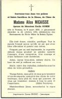 Alice Nicaisse épouse De Georges Gobin Termes Chiny 1902 1950 - Chiny