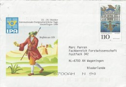 Germany 1998 Japanese Palace Wurzburg Postal Stationary Cover - Umschläge - Gebraucht