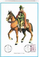 BELGIQUE  JOURNEE DU TIMBRE 1975 270X195  MESSAGER COMMUNAL 14° S ... FAC219 - Documents De La Poste