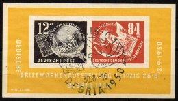 DDR - Bloc De L'Exposition Philatélique De Leipzig De 1950 Oblitéré SUPERBE - [6] République Démocratique