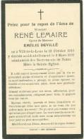 René Lemaire époux De Emilie Devillé Villers La Loue 1910 1932 - Meix-devant-Virton