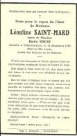 Léonie Saint Mard Veuve Emile Simon  Villers La Loue Meix Devant Virton 1956 - Meix-devant-Virton
