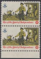 !a! USA Sc# 1479 MNH Vert.PAIR W/ Bottom Margin - American Bicentennial: Drummer - Etats-Unis