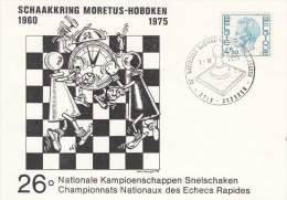 SCHACH-CHESS-ECHECS-SCACC HI, BELGIUM, 1975, Special Postmark !! - Schaken