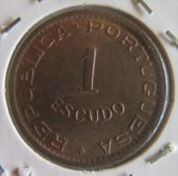 VF MOEDA  1 ESCUDO  ANGOLA 1963 - Angola