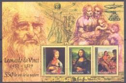 2002. Moldova, Leonardo Da Vinchi, S/s, Mint/** - Moldova