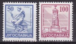 YUGOSLAVIA 1992. Definitive, MNH (**), Mi 2582/83 - 1992-2003 République Fédérale De Yougoslavie