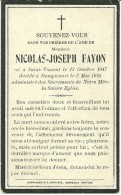 Nicolas Joseph Fayon Saint Vincent Dampicourt 1847 1925 - Rouvroy