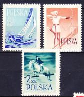 POLOGNE 1959 YT N° 952, 953 Et 955 ** - Unused Stamps