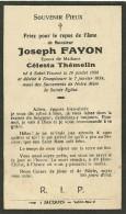Joseph Fayon époux De Celesta Themelin Saint Vincent Dampicourt 1858 1934 - Rouvroy