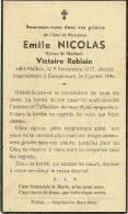 Emile Nicolas Epoux De Victoire Roblain Mellier Dampicourt 1877 1946 - Rouvroy