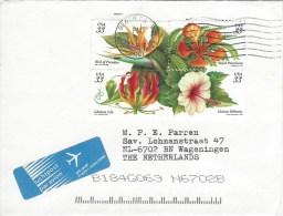 USA 2001 Long Beach Flowers Lily Hibiscus Cover - Végétaux