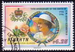 PENRHYN Cook Islands 1996 SG #521 $4.25 VF Used 70th Birthday Of Queen Elizabeth II - Penrhyn