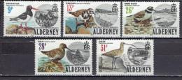 Alderney - Mi-Nr 13/17 Postfrisch / MNH ** (a276) - Albatrosse & Sturmvögel