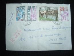 LR TP COROT 2,00 + USSEL 2,00 + ST NICOLAS DE PORT 2,00 + DUNKERQUE 0,50 OBL.28-3-1977 PARIS 07 (75) - Marcofilia (sobres)