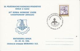 SCHACH-CHESS-ECHECS-SCACC HI, YUG, 1996, Special Postmark !! - Schaken