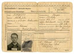 Carte D'identité Allemande Pour Un Prisonnier Français 23° Regt D'infanterie De Forteresse - 1939-45