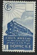"FR Colis Postaux YT 175 "" Domicile SV Bleu "" 1941 Neuf* - Paketmarken"