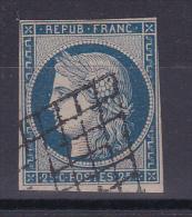 CERES N° 4 OBL COTE 60€ - 1849-1850 Cérès
