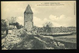 83 Var Frejus 45 Ruines Romaines Le Môle Et La Lanterne Phare à L'entrée Du Port Papeterie Parisienne - Frejus