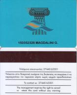 GREECE - Club Hotel Casino Loutraki, casino member card(thick writing), used
