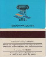 GREECE - Club Hotel Casino Loutraki, casino member card(thin writing), used