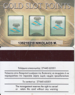 GREECE - Gold Slot Points, Club Hotel Casino Loutraki, casino member card(thick writing), used