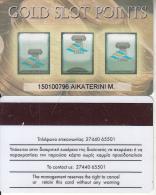 GREECE - Gold Slot Points, Club Hotel Casino Loutraki, casino member card(thin writing), used