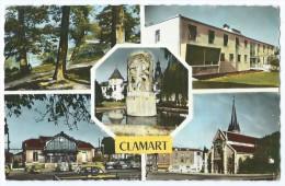 CLAMART (92) - Multivues (Etang De Trivaux, Clinique, Mairie, Gare, Eglise) - CPSM 1963 - Scan Recto-verso - Clamart