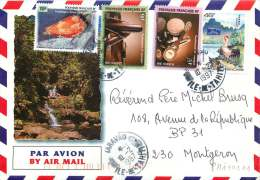 1997  Lettre Avion De Taravaopour La France Yv  472, 516, 518, 519 (Instruments De Musique), - Französisch-Polynesien