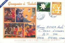 1997  Lettre Avion Pour La France Yv   533, 538 (Fleur De Tiaré , Du Carnet Tourisme) - Polynésie Française