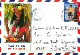1999  Lettre Avion Pour La France Yv   578 (France, Champion Du Monde De Football) - Polynésie Française