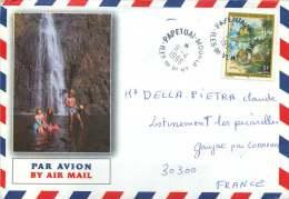 1996  Lettre Avion Pour La France Yv  506 (Année Du Rat) - Polynésie Française