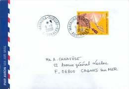 2000 Lettre Avion Pour La France  Yv 634 (Éventails,  Artisanat) - Polynésie Française