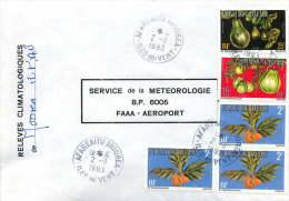1993  Lettre De Service Fruits Yv S2 X3, 8, 11 - Service