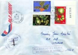 1993  Lettre  Intérieure De Service Fruits Yv  S1, 5, 10 - Service
